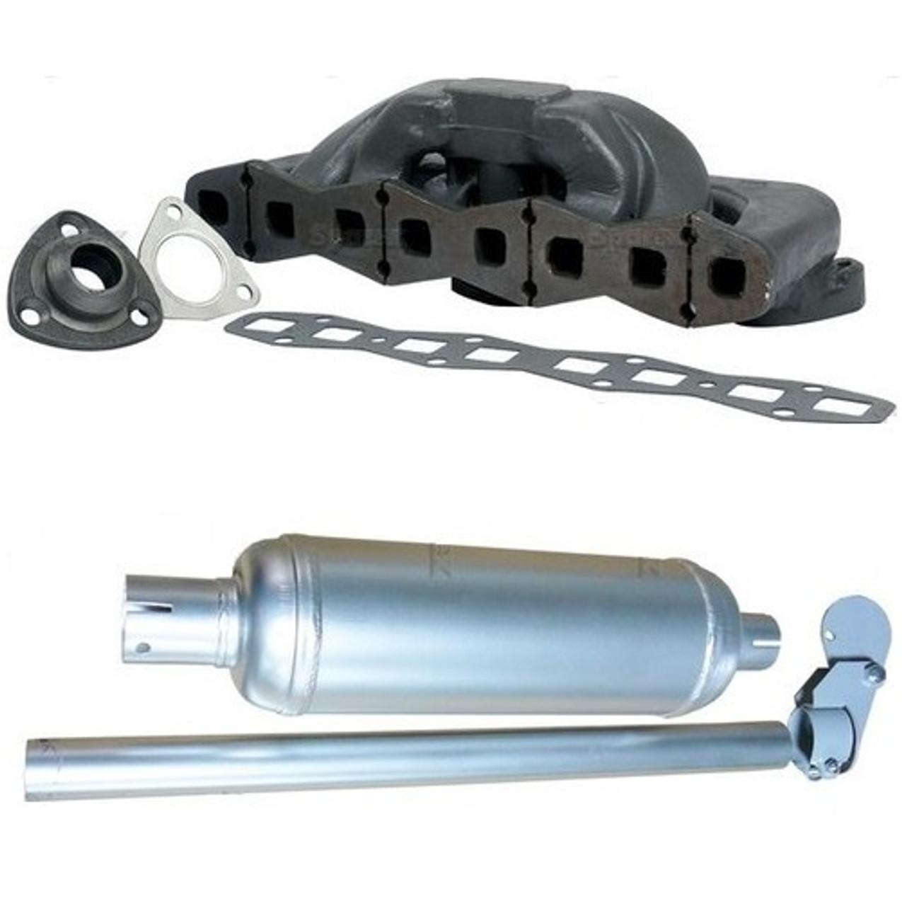 Exhaust Manifold and Muffler