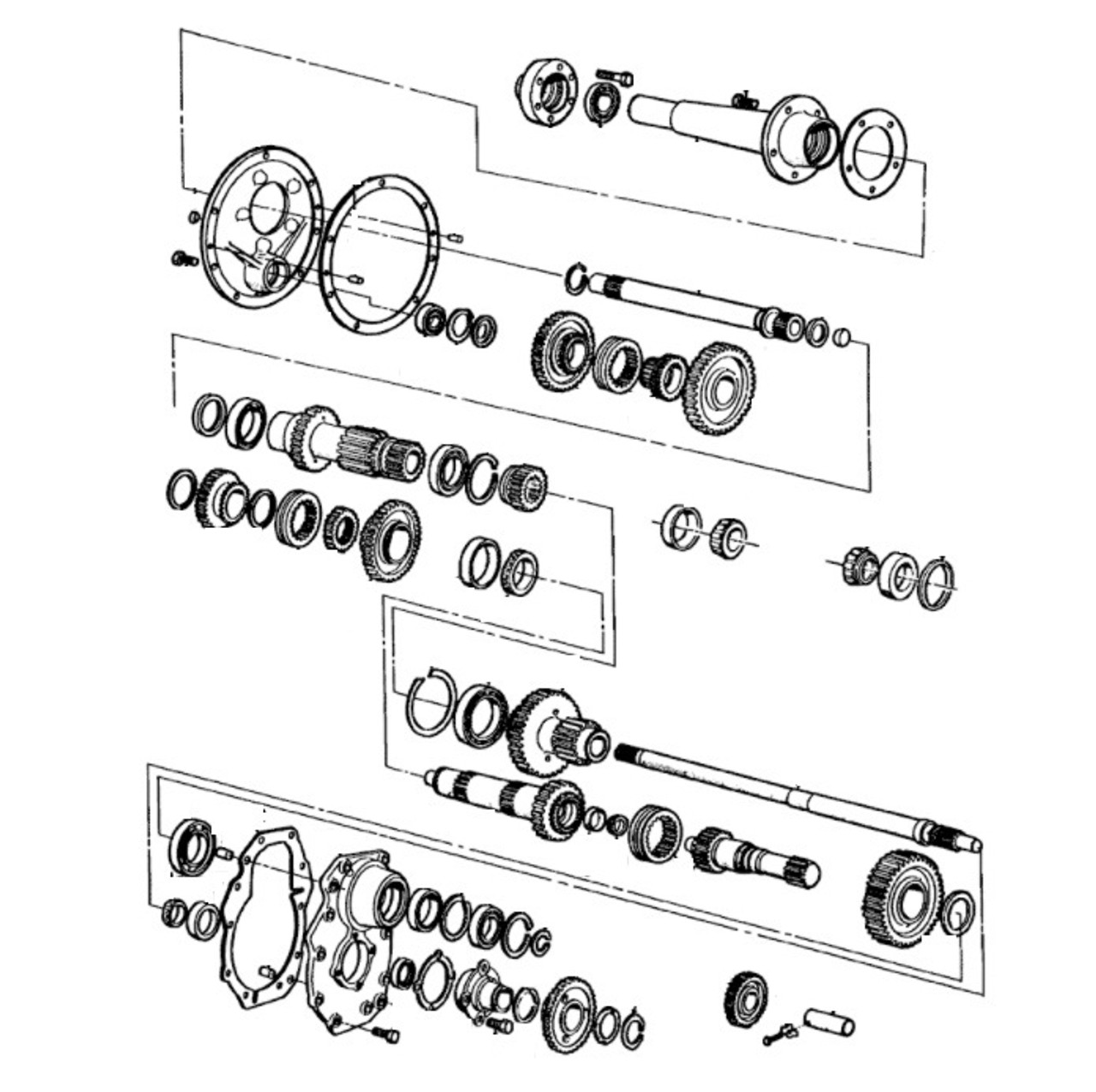 ford tractor transmission parts