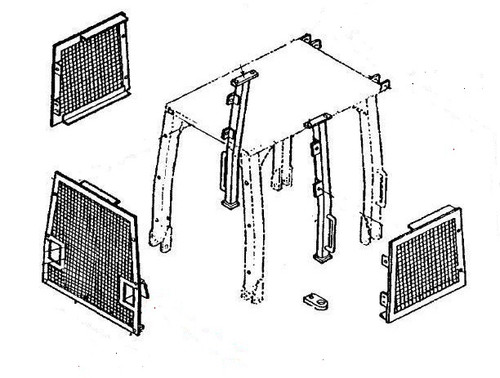 Screen Set (Includes Rear and Side Screens, Posts, and Brackets) -- PV699