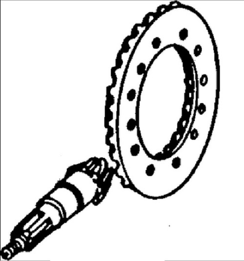 Ring Gear and Pinion Set, Front Axle (Marked R41977 / R44383) -- AR45732