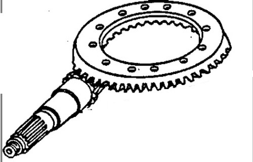 Ring Gear and Pinion Set, Rear Axle (Marked R41978 / R44384) -- AR45733