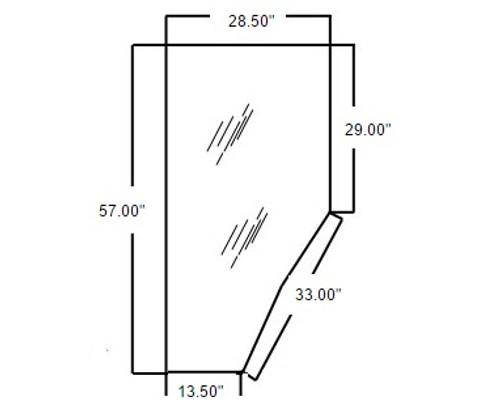 Kubota Tractor Door Glass (Left Hand) -- 3G710-70770