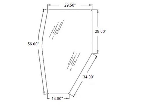 Door Glass (Left Hand) -- 3A751-70770