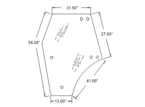 Door Glass (Left Hand) -- 3C581-70774