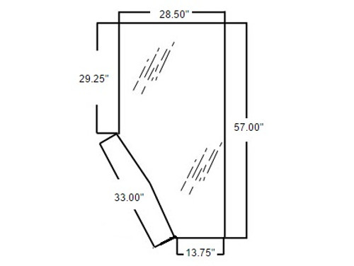 Door Glass (Right Hand) -- 3G710-70670
