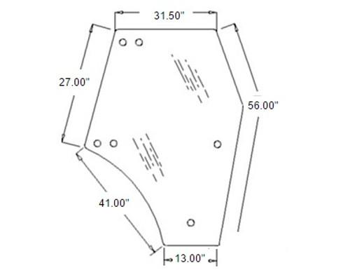 Kubota Door Glass (Right Hand) -- 3C581-70674