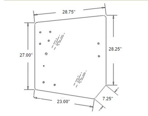 Rear Upper Glass -- 3C581-70553