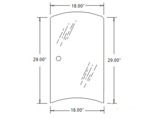 Side Glass (Left Hand) -- 3C581-70530