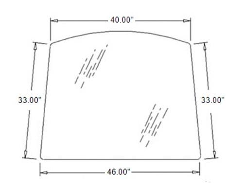 Upper Windshield Glass -- 3C581-70512