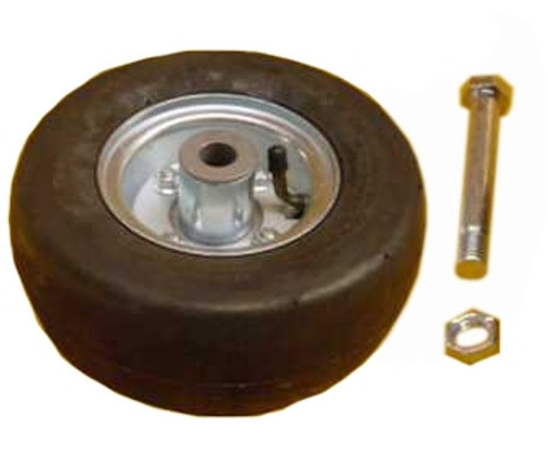 """Tire and Wheel Assembly (3.00"""" x 8"""" Solid Rubber Tire)  -- 502015"""
