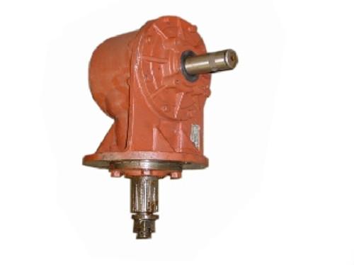 60-Hp Gearbox (15-Spline Bottom Output Shaft) (Smooth Input Shaft for Sheer Bolt) -- 184060