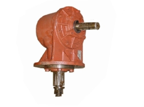 60-Hp Gearbox(15-Spline Bottom Output Shaft)(Splined Input Shaft for Slip Clutch) -- 184065