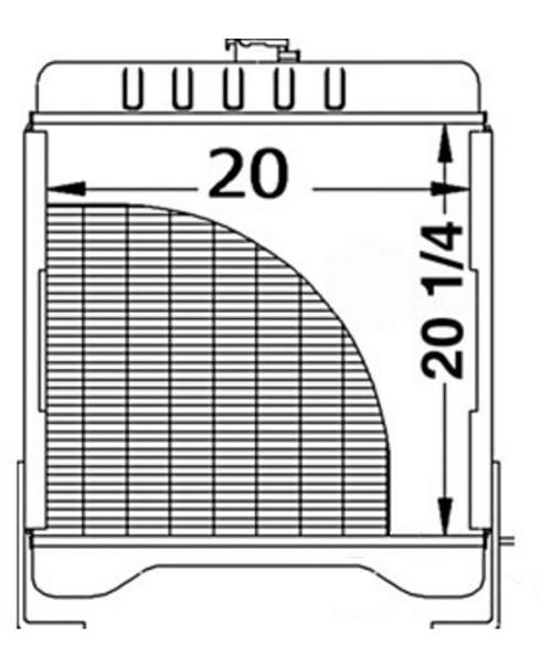 Case 85XT, 90XT, 95XT Radiator -- 237992A3