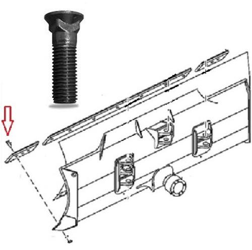 "Cutting Edge Bolt (3/4"" X 2 1/2"") -- 5J4773"