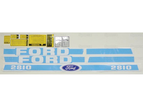 Ford 2810 Blue Hood Decal Set -- S.67701