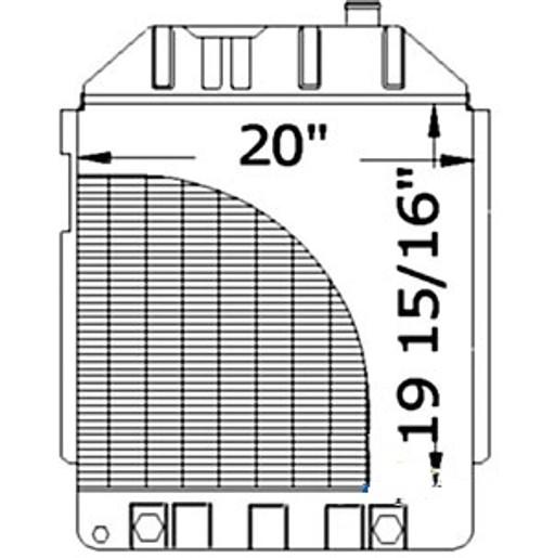 "RadiatorCore 20"" x 20"" -- E1NN8005EB15M"