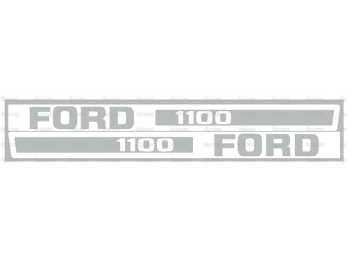 Ford 1100 Hood Decal -- S.67842
