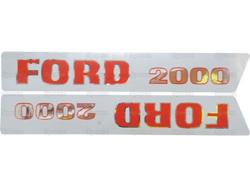 Hood Decal Set (3-Cylinder, Early Style- Up To 1968) -- S.8534