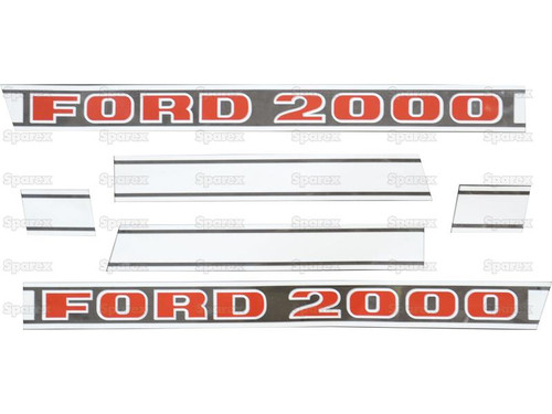 Ford 2000 Hood Decal Set -- F501HB