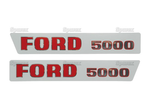 Ford 5000 Hood Decal -- S.8537