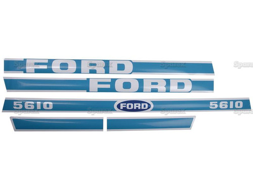 Ford 5610 Hood Decal Set -- S.8430