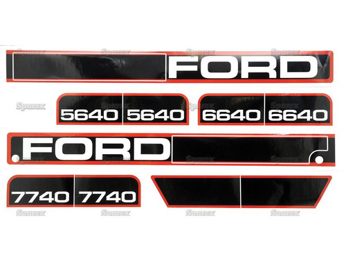 Ford 40 Series Hood Decals -- S.68246