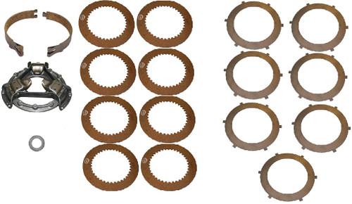 (1) Pressure Plate AT18416(1) Brake Band (2-Piece) AT129806-807(8) Fiber Steering Discs T20716(7) Steel Steering Discs T20717(1) Throwout Bearing AT17464 -- JD-450-SK