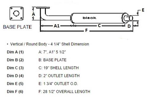 Ford Compact Muffler -- SBA314102140