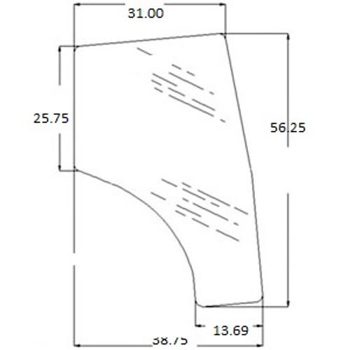 Right Hand Door Glass