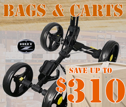 HUGE Savings On Golf Bags and Golf Carts! Save Up To $310! Shop Now!