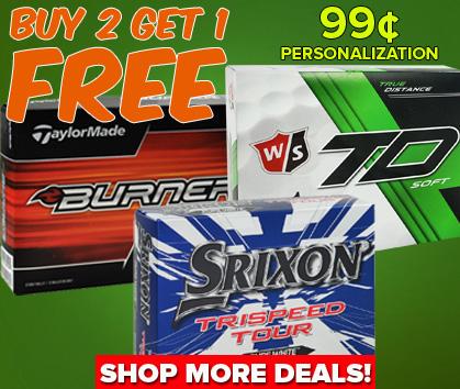 Buy 2, Get 1 FREE Golf Balls - 99¢ Personalization!