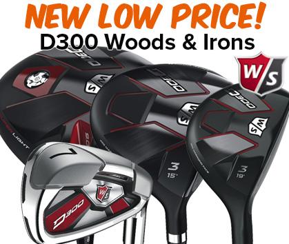 Wilson D300 Woods & Irons - New LOW Price!