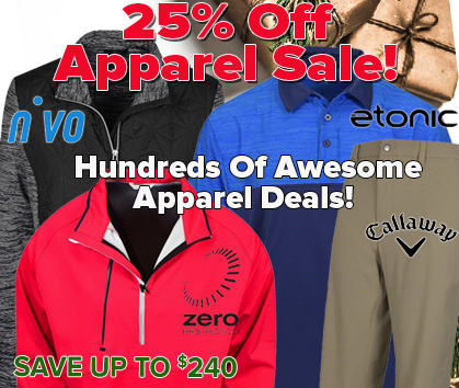25% OFF Apparel Sale! Save Up To $240!