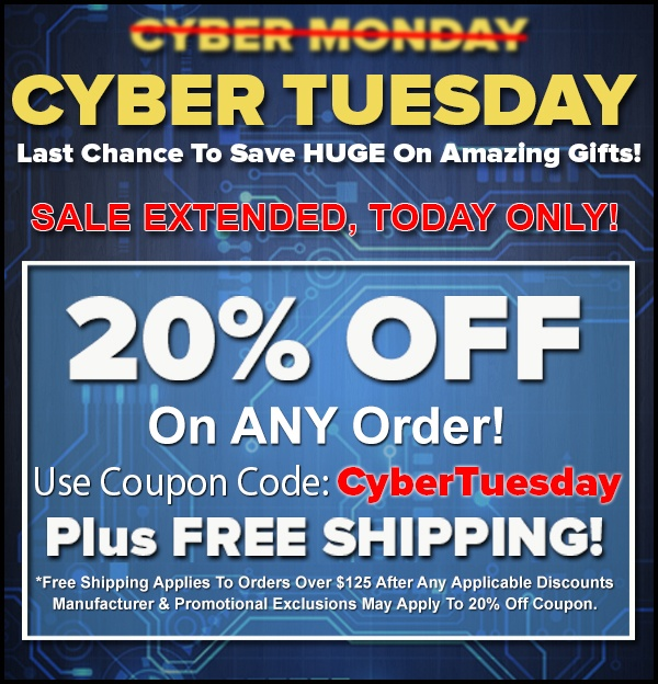 20% OFF Site Wide For Cyber Tuesday!