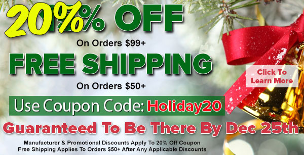 20% OFF Site Wide On Orders $99+ Plus FREE Shipping On Orders $50+ SECRET SALE For Cyber Monday!