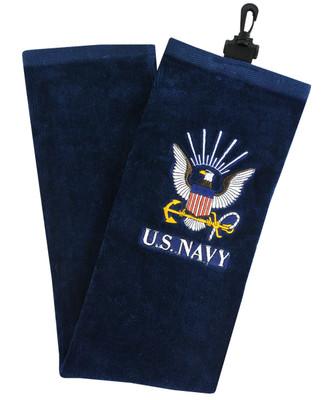 Hot-Z Golf US Military Tri Fold Towel Navy