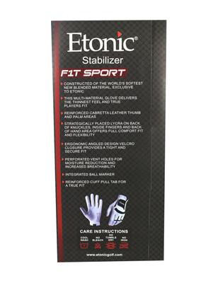 Etonic Golf- MLH Stabilizer F1T Sport Glove White/Black