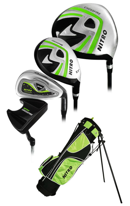 Nitro Golf Junior Crossfire 8 Piece Complete Set With Bag ...