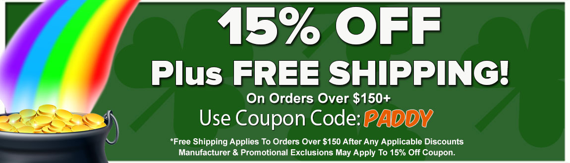 15% OFF Site Wide Plus FREE Shipping For St. Patrick's Day!