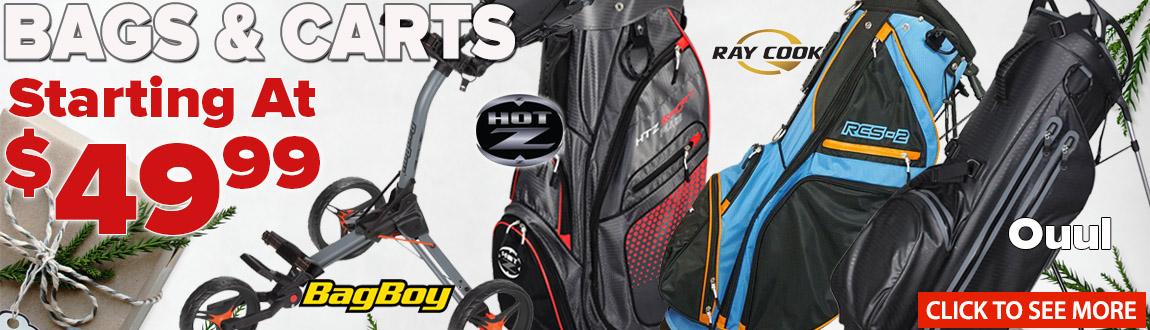 Bags & Carts - Starting At $49.99!