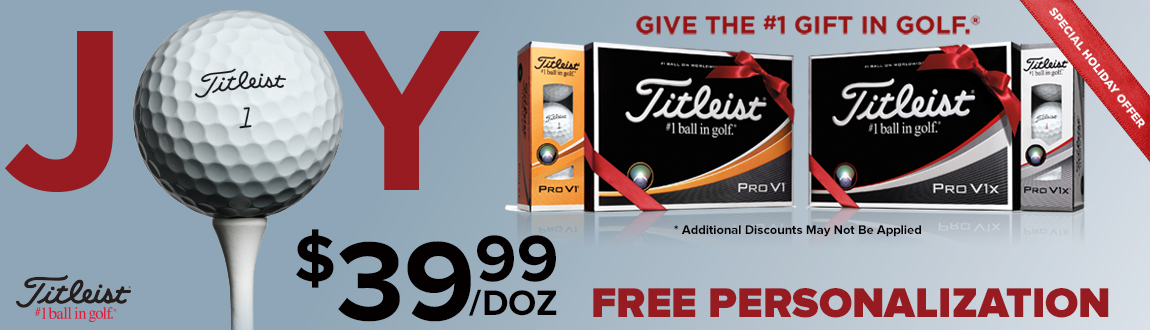 Titleist Pro V1 Balls $39.99 w/ Free Personalization - A Special Holiday Offer