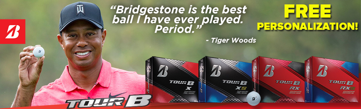 Elevate Your Game! Bridgestone Tour B-Series Balls with FREE Personalization!