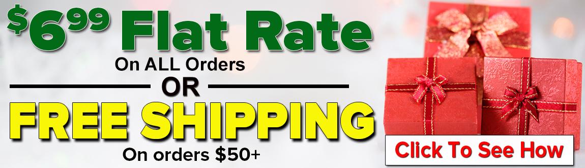 FREE Guaranteed Shipping On Orders $50+!