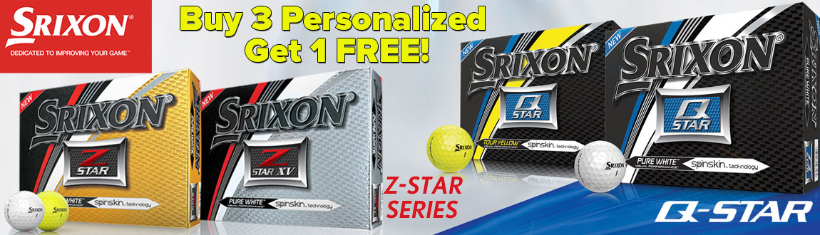 Buy 3, Get 1 FREE Personalized Srixon Q-Star/Z-Star Golf Balls!
