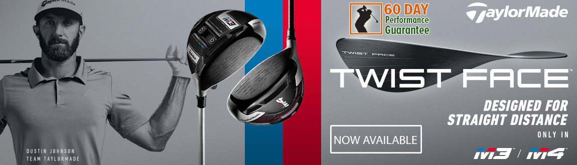 TaylorMade M3/M4 Clubs With Twist Face Now Available At RBG! Designed For Straight Distance.