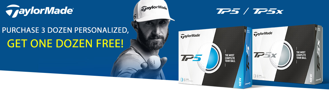 TaylorMade TP5/TP5x Golf Balls - Buy 3 Dozens Personalized, Get 1 FREE!