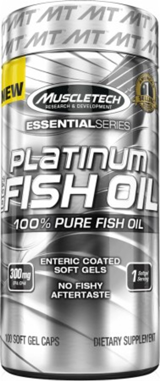 100% Platinum Fish Oil by MuscleTech 100ct