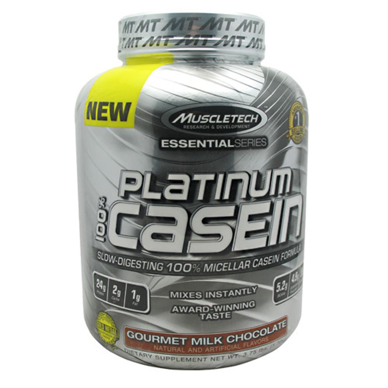 100% Platinum Casein by MuscleTech 55/serv