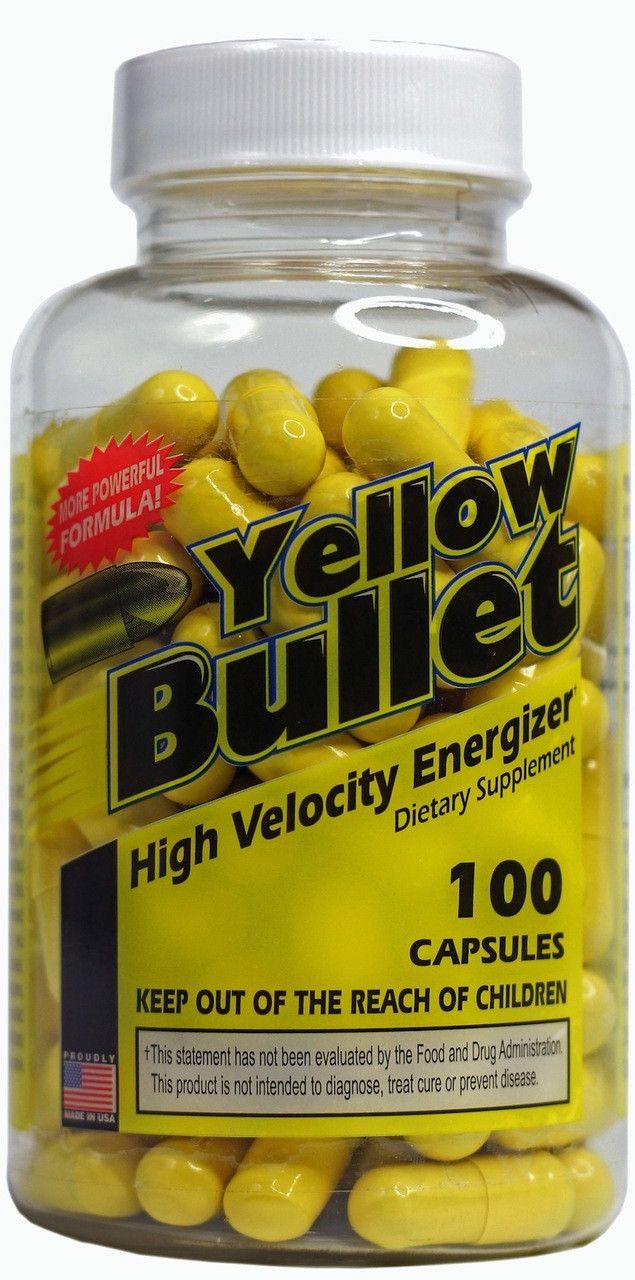 Yellow Bullet Ephedra Pills by Hard Rock Supplements