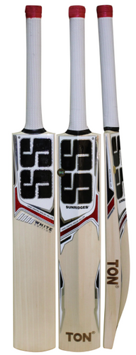 SS White Edition Red Cricket Bat